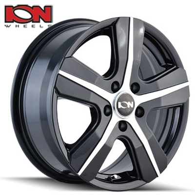 ION Wheels 101 Gloss Black Machined 5 Spoke Transit