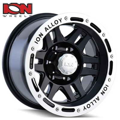ION Wheels 133 Black Machined Lip Edge