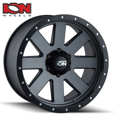 ION Wheels 134 Matte Gunmetal w/Black Lip
