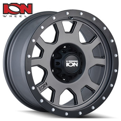 ION Wheels 135 Matte Gunmetal w/Black Lip