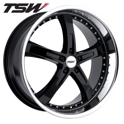 TSW Jarama Gloss Blk w/Machined Lip