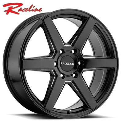Raceline 156B Surge Gloss Black Milled