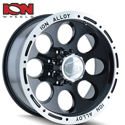 ION Wheels 174 Black w/Machined Lip
