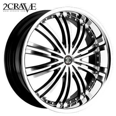 2 Crave No.01 Blk Machined Chrome Lip