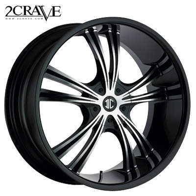 2 Crave No.02 Blk Machined Black Lip