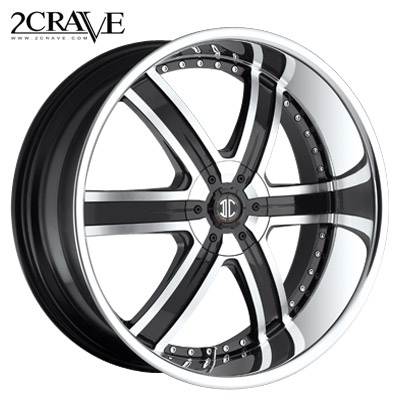 2 Crave No.04 Blk Machined Chrome Lip