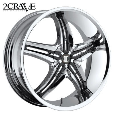 2 Crave No.05 Chrome w/Blk Attach A Inserts