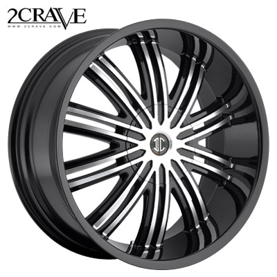 2 Crave No.07 Blk Machined Black Lip