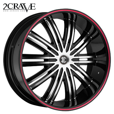 2 Crave No.07 Blk/Machined Blk Lip Fiero