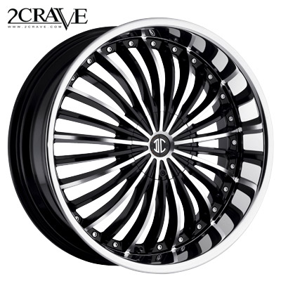 2 Crave No.13 Blk Machined Chrome Lip