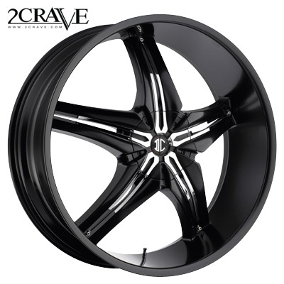 2 Crave No.15 Blk w/Chrome Attach A Insert