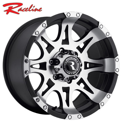 Raceline 982BM Raptor Machined Satin Black