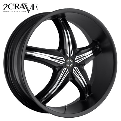 2 Crave No.05 Blk w/Chrome Attach B Inserts