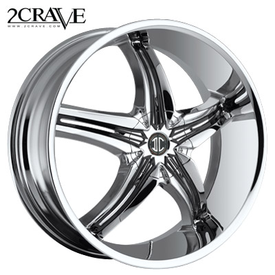 2 Crave No.05 Chrome w/Blk Attach B Inserts