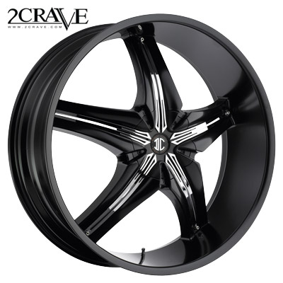 2 Crave No.15 Blk w/Chrome Attach B Insert