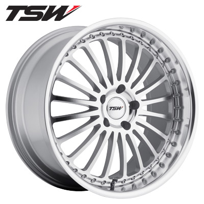 TSW Silverstone Silver w/Machined Face & Lip