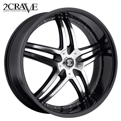 2 Crave No.17 Black Machined w/Blk Lip