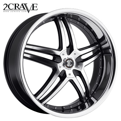 2 Crave No.17 Black Machined w/Chrome Lip