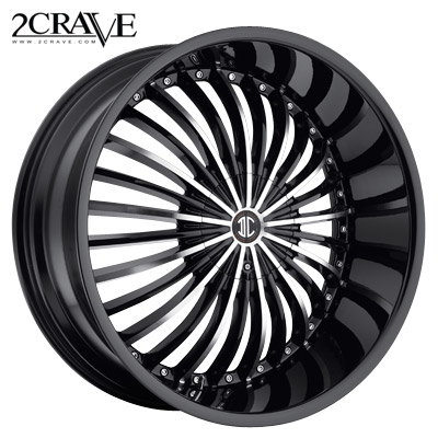 2 Crave No.19 Black Machined w/Blk Lip