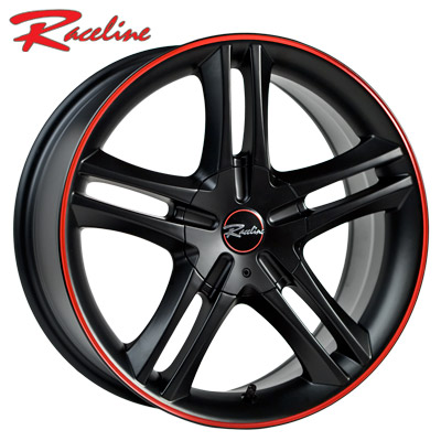 Raceline 195 Black w/Red Stripe