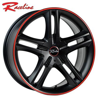 Raceline 195 Black w/Red Stripe
