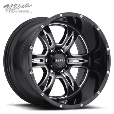 Ultra 249 Predator II 6 Lug Gloss Black w/Milled Accents