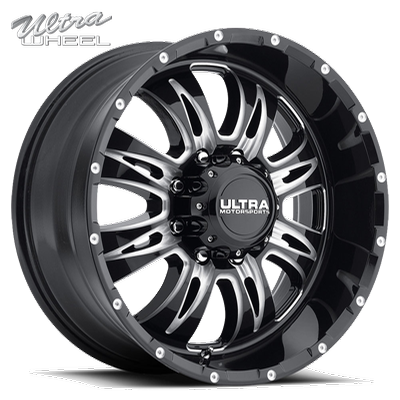 Ultra 249 Predator II 8 Lug Gloss Black w/Milled Accents