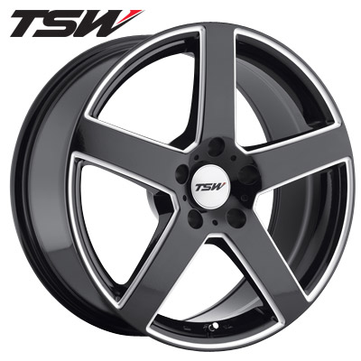 TSW Rivage Gloss Blk w/Milled Spokes