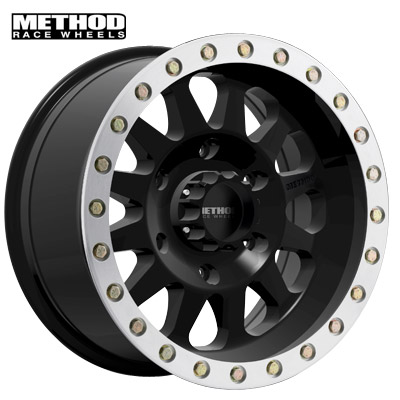 Method Race MR304 Dbl Standard Matte Black w/Machined Lip Edge