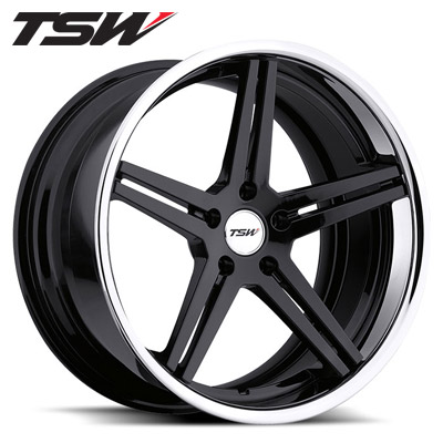 TSW Mirabeau 2pc Gloss Blk w/Chrome SS Lip