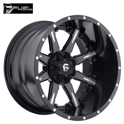 Fuel Off Road D251 2pc Nutz Matte Blk Machined w/Gloss Blk Lip
