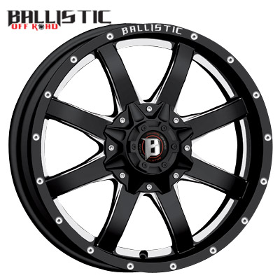 Ballistic Off Road 955 Anvil Gloss Black Milled