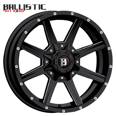 Ballistic Off Road 956 Razorback Gloss Black Milled