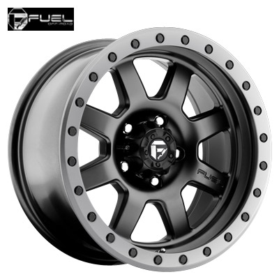 Fuel Off Road D551 Trophy Matte Blk w/Anthracite Ring