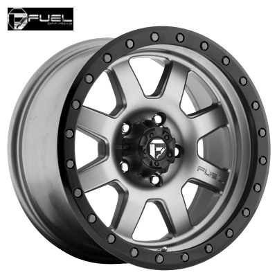 Fuel Off Road D552 Trophy Anthracite w/Matte Blk Ring
