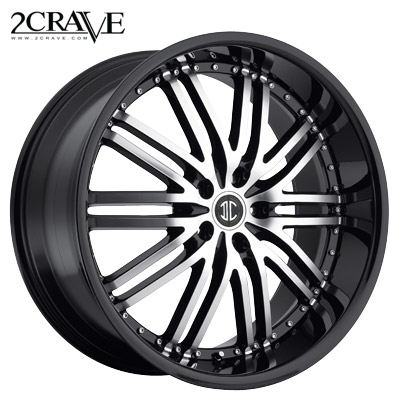 2 Crave No.22 Black Machined Blk Lip