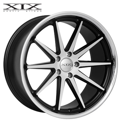 XIX X31 Machined & Matte Blk w/Chrome SS Lip