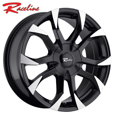 Raceline 198B Vector Gloss Black Machined