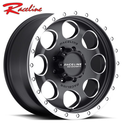 Raceline 925D Havoc Blk Milled Holes/Lip