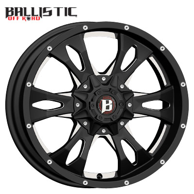 Ballistic Off Road 957 Mace Gloss Black Milled