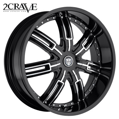 2 Crave No.27 Blk Machined Blk Lip
