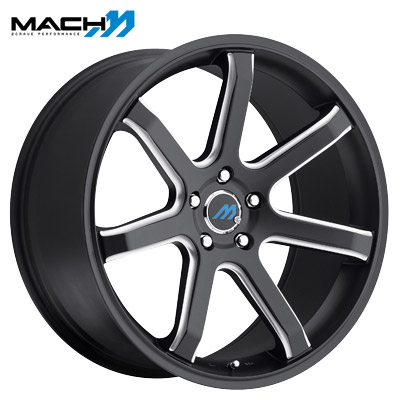 Mach Mach 07 Satin Blk Milled Edge