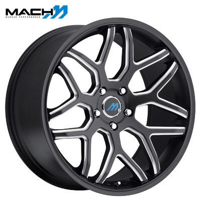 Mach Mach 08 Satin Blk Milled Edge