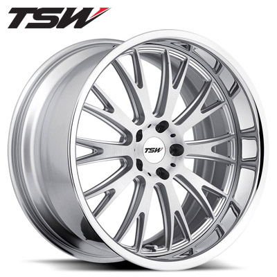 TSW Monaco 2pc Silver w/Chrome SS Lip
