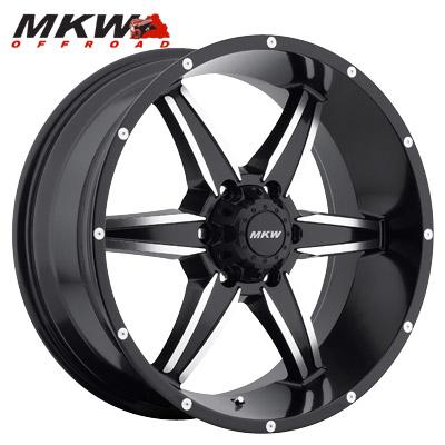 MKW Offroad M89 Satin Blk w/Machined 6 Lug