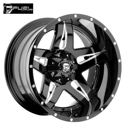 Fuel Off Road D554 Full Blown Gloss Blk Milled