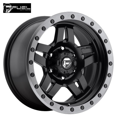 Fuel Off Road D557 Anza Matte Blk w/Anthracite Ring