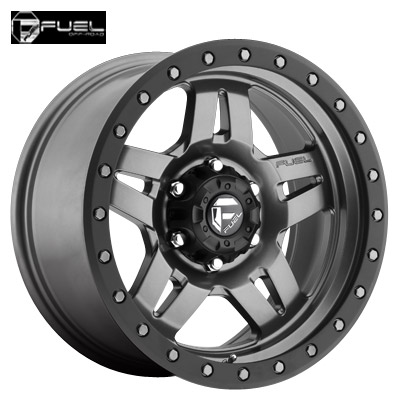 Fuel Off Road D558 Anza Anthracite w/Matte Blk Ring