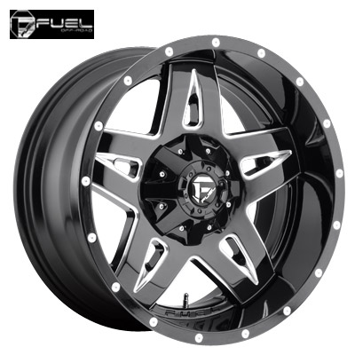 Fuel Off Road D254 2pc Full Blown Gloss Blk & Milled