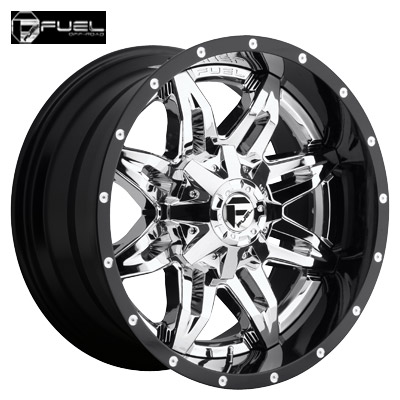 Fuel Off Road D266 2pc Lethal Chrome w/Gloss Blk Lip